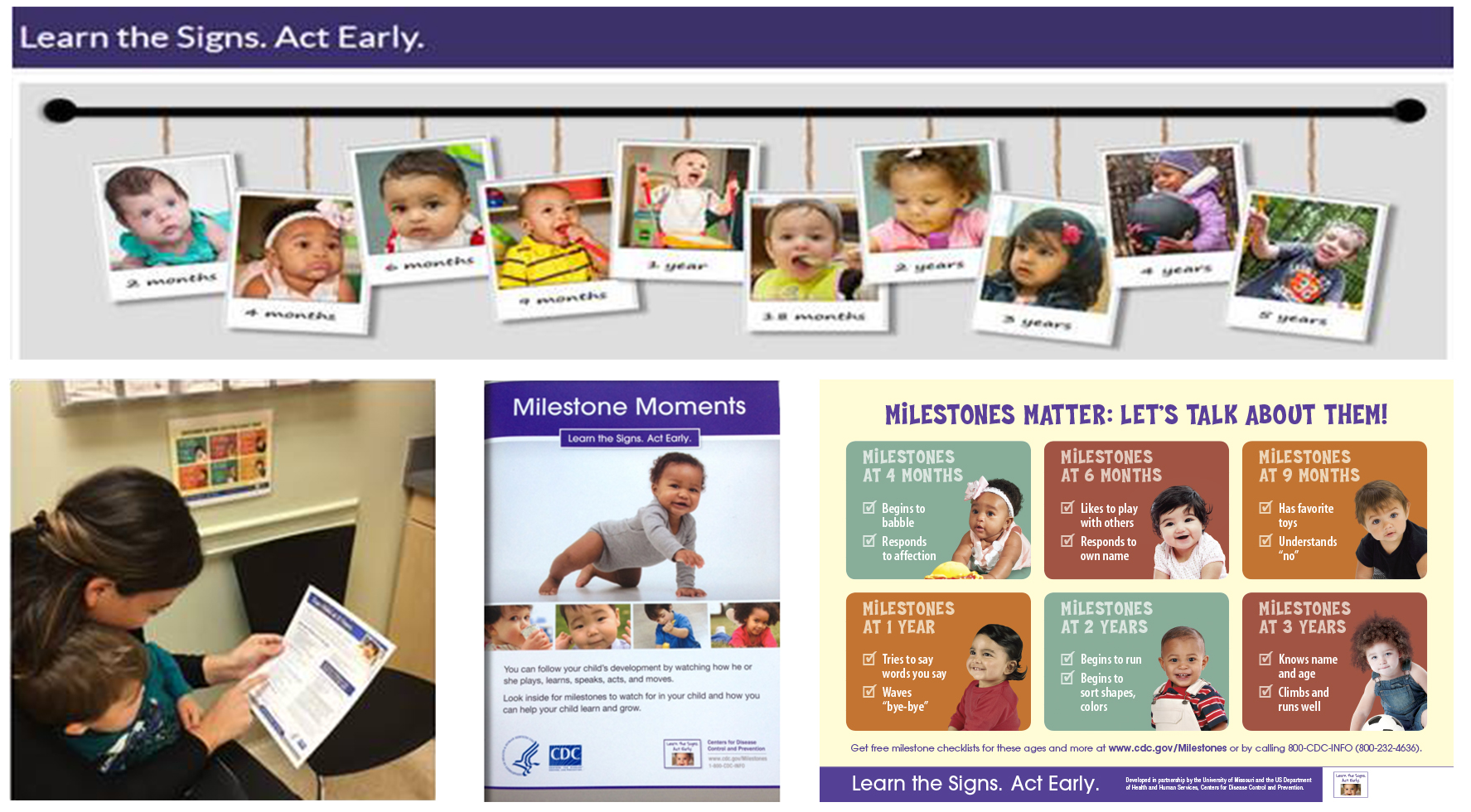 CDC Learn the signs and Milestone Moments Resources