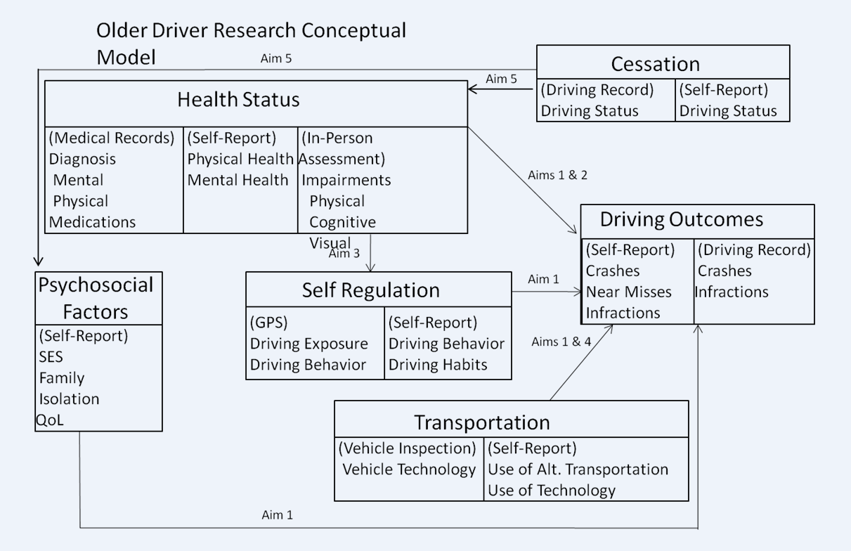 Older Driver Research Conceptual Model