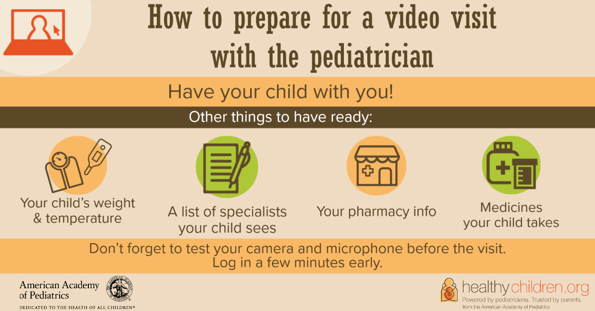 How to prepare for a video visit with your pediatrician