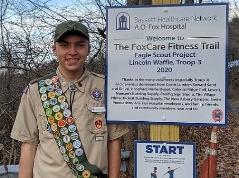local senior high school student and Eagle Scout Lincoln Waffle