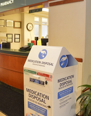 Medication Disposal Kiosk at Bassett Medical Center's Outpatient Pharmacy